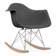 Style Dark Grey Rocker Chair With Natural Leg Finish ... Fairglen Wood Arm Modern Rocking Chair Beige Project 62 This Little Miggy Stayed Home Nursery Inspiration 9 Best Glider Rockers 2019 The Strategist New York Magazine Vieques Armchair Rar Molded Black Plastic With Steel Eiffel Legs Ims New Supreme Flat Fiberglass Side Baxton Studio Yashiya Midcentury Retro Grey Fabric Upholstered Adding Comfort To A Wooden Part One Sewing Eames Rocker Lounge