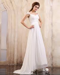 a line beaded cap sleeves chiffon white dresses for prom on sale