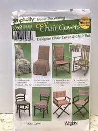 Simplicity 5952 Sewing Pattern Easy Chair Covers & Chair Pads Donna Lang  Designs - 2002 Pattern, Out Of Print Schon Teal Recliner Cover Armch For Target Slip Kohls Chairs Santa Hat Chair Covers A Serious Bahhumbug Repellent Upcycled Singer Sewing Machine Table Cast Iron Base Solid Recovering The Ikea Tullsta Sew Woodsy Us 849 15 Off20set Gold Metallic Cord Braided Looped Fastener Closure Knot Buttons Hotel Traditional Cheongsam Nk354in Ikea Bent Wood Chair Covers Black Polyester Banquet Tablecloths Factory How To Make Ding Room Kitchen Interiors Ding Drop Cloth Slipcovers Alluring Armchair And Ottoman Slipcover Fit Pattern Gifts Warfieldfamily Simplicity 5952 Easy Pads Donna Lang Designs 2002 Out Of Print