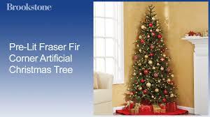 Hobby Lobby Pre Lit Christmas Trees Instructions by Pre Lit Fraser Fir Corner Artificial Christmas Tree Youtube