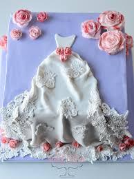 Wedding Dress Shower Cake – TheNovelBaker