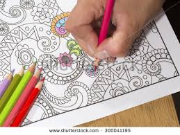 An Image Of A New Trendy Thing Called Adults Coloring Book In This
