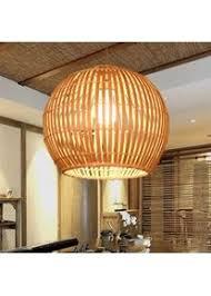bambus rattan retro pendelleuchten laterne design