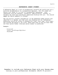 100 How To List References In A Resume Resume References For First Job Finance Job
