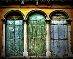 Rustic Door Decor Venice Italy Wall Art Travel Picture Extra Large Print Living Room