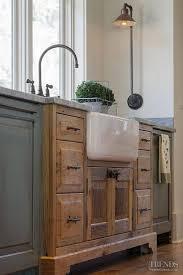 12 Porcelain Farmhouse Sink In Vintage Cabinet
