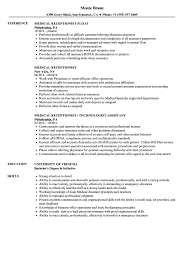 Related Job Titles Receptionist Resume Sample