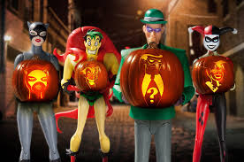 Joker Pumpkin Carving Patterns by Dc Collectibles Carving A Batman The Animated Series Pumpkin Dc
