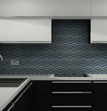Diagonal Orange Glass Splashback