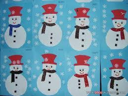 Snowman Winter Crafts For Preschoolers Season Craft Idea Preschool Kids On Easy