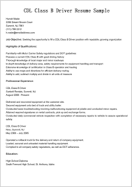 Resume Templates Truck Driver Samples Cdl Job Description For