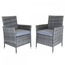 Napoli Pair Of Rattan Dining Chairs Garden Furniture - Grey Modway Endeavor Outdoor Patio Wicker Rattan Ding Armchair Hospality Kenya Chair In Black Desk Chairs Byron Setting Aura Fniture Excellent For Any Rooms Bar Harbor Arm Model Bhscwa From Spice Island Kubu Set Of 2 Hot Item Hotel Home Office Modern Garden J5881 Dark Leg