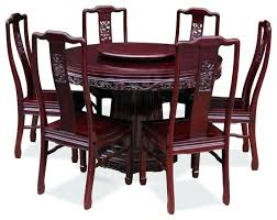Round Dining Table For 6 Tables Rosewood Dragon Design With Chairs