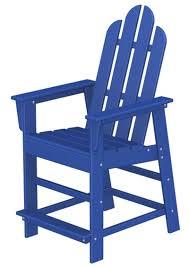Navy Blue Adirondack Chairs Plastic by Island Tall Adirondack Chair