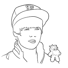 Justin Bieber Colouring Pages