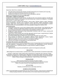 Police Officer Resume Examples Corrections Example Law Enforcement Sample