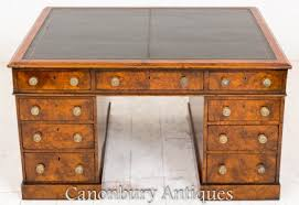 Partners Desks Victorian Regency Pedestal Desks Canonbury Antiques
