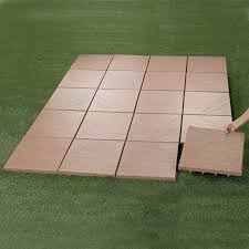 Rubber Paver Tiles Home Depot by Create An Instant Patio On Any Grass Dirt Or Sand Surface Ultra