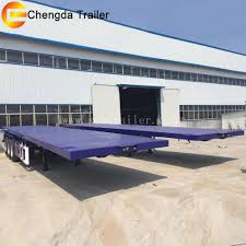 100 20 Ft Truck 2 Axle 3 Axles Ft 40ft Container Transport Flat Bed Flat Deck Semi