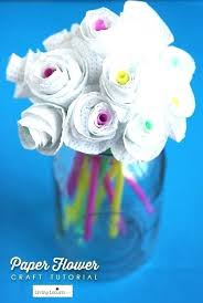 Easy Kid Crafts At Home This Is Such A Fun And Kids Party Activity Paper Flower