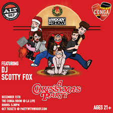 Conga Room La Live Concerts by The Woody Show Chrissymas Party At The Conga Room L A Live