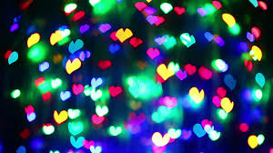 Blinking Xmas Tree Lights by Abstract Valentine U0027s Day Heart Shaped Blinking Bokeh Background