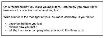 IELTS General Writing insurance letter ielts simon