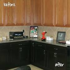 Gel Stain Cabinets Pinterest by Oak Cabinets To General Finishes Brown Mahogany Love Them