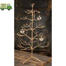 ADORABLE Decorations Metal Christmas Ornament Display Holder Tree Stand Gold