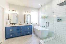 Custom Shower Remodeling And Renovation Serene Azure Bathroom Before After Irwin Construction