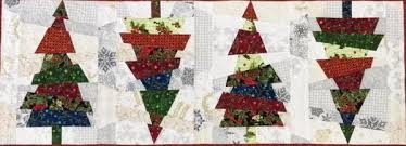 CRAZY CHRISTMAS TREES TABLE RUNNER OR WALL HANGING 112818