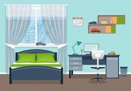 baby schlafzimmer raumausstattung mit möbeln premium vektor
