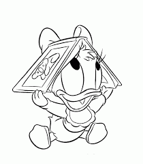 Donald Duck Coloring Pages For Kids Printable