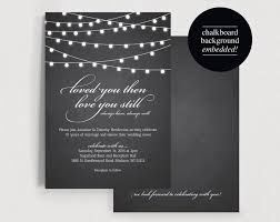 Vow Renewal Invite Invitation Wedding Rustic Chalkboard String Light Printable PDF Instant Download