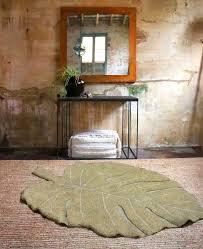 teppich monstera oliv 120x180cm waschbar