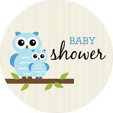 Blue Whimsical Owls Boy Baby Shower Invitation