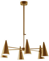 INK IVY Bellac Antique Brass Chandelier Lighting & Lamps For