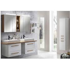 lomadox badmöbel komplett set mit 165cm doppel waschtisch dabo 04 in weiß mit landhaus eiche b h t 210 200 50 cm