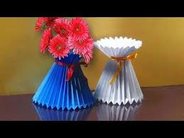 Flower Vase Made By Paper How To Make