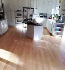 Refinished Maple Hardwood Floors Throughout Kitchen Family Rooms
