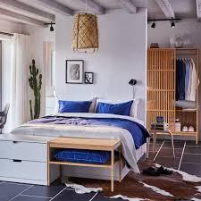 schlafzimmer inspiration bettgestell mit schubladen ikea