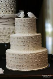 Love Letter Wedding Cake With Bird Topper Susies