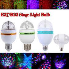 3w e27 b22 rgb rotating led stage light bulbs disco