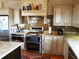 Backsplash Ideas For White Kitchens by Granite Countertop Raw Kitchen Cabinets Backsplashes Ideas