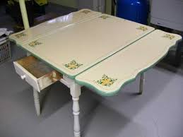 1930s Kitchen Table Porceliron Enamel Steel Chairs With Marvelous Trends