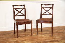 100 Designer High End Dining Chairs Solid Walnut Antique Reproduction Cane Seat Chair
