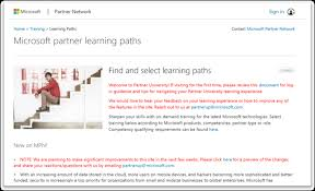 Introducing our New Learning Portal for Partners Microsoft