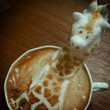 Latte Art Dali Cat Giraffe