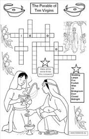 The Ten Virgins Crossword PuzzlesBible ParablesNew TestamentBible ActivitiesSunday