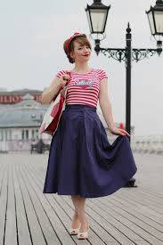 Nautical 50s Inspired Outfit On The Pier